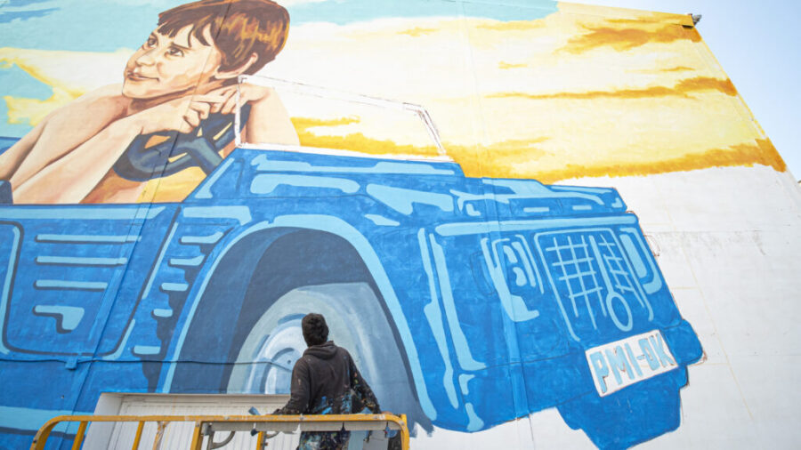 Mural OK Mobility by Joan Aguiló_